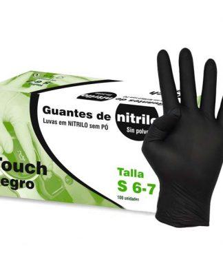 Guantes de Nitrilo negro talla S, sin polvo
