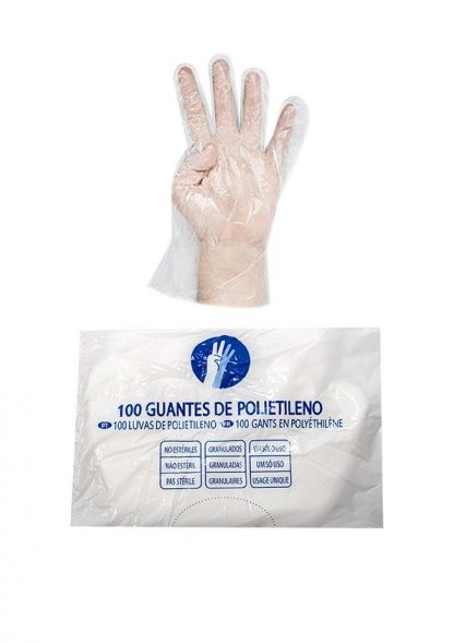 100 Guantes de Polietileno