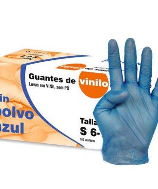 100 guantes sin polvo vinilo