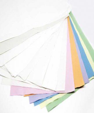 Muestras rollos de papel de camilla