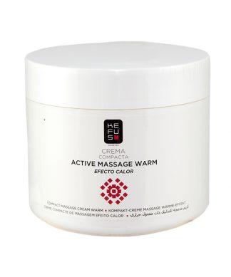 Crema de masaje compacta efecto calor