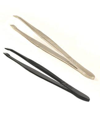 Pinzas para depilar profesionales punta recta 9 cm.