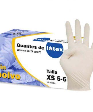 100 Guantes de látex sin polvo