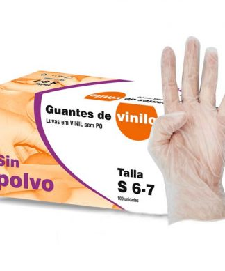 100 Guantes de vinilo sin polvo