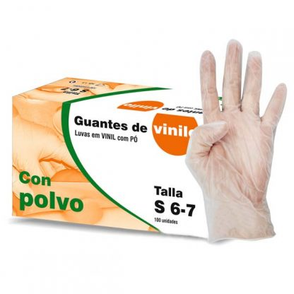 100 Guantes de vinilo con polvo